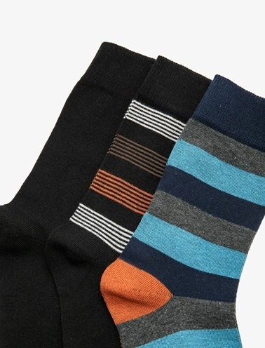 Koton 3'lü Erkek Çorap Siyah